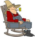 man in rocking chair